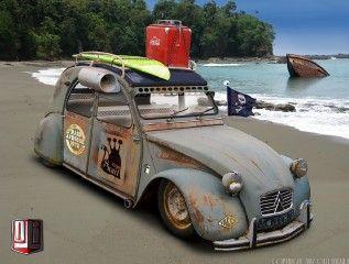 2cv Snail Hoodride